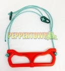 Plastic Trapeze Swing on Rope - Red