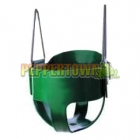 Cubby House Full Bucket Swing Polymer - Green