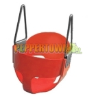 Cubby House Full Bucket Swing Polymer - Red