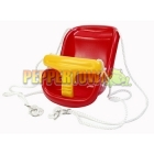 High Back Plastic Seat- Red