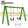 LAZA 6 Steel Swing Frame - Includes swings