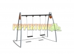 Steel Swing Frame with Flat Commercial Rubber Swings