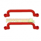 Playground Plastic Handle RED - long (pair)