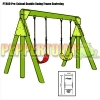 Pre-School Double Swing Frame with Swings