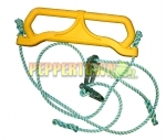 Plastic Trapeze Swing on Rope - Yellow