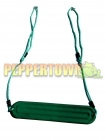 Ribbed Strap Seat on Adjustable Ropes- GREEN