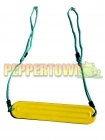 Ribbed Strap Seat on Adjustable Ropes- YELLOW