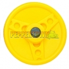 Solid Plastic Steering Wheel- Canary Yellow