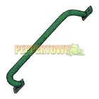Powdercoated Galvanised Steel Handle GREEN (flat plates)