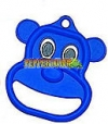 Plastic Bear Ring- Blue (each)