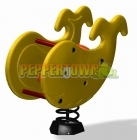 Whale Spring Rocker - Yellow
