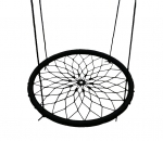 100cm Black Spider Web Swing Outdoor with Adjustable Rope