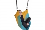 Adjustable Denoh Cocoon Seat - Turquoise and Yellow