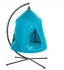 HangOut HugglePod Hanging Tent with Mighty Crescent Chair Stand Set - Blue