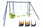 Hills Hurricane Swing Set with 3 way Convertible Toddler Swing