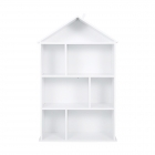 Wooden Dollhouse Bookcase Display Unit - White