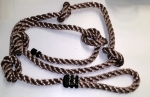 Knotted Rope with Loop - Brown