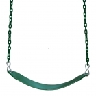 Moulded Strap Seat with Coated Chains- GREEN