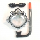 Nudgee Beach Shark Mask, Goggle, Snorkel Set