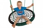 Oval Nest Swing - Black and Green