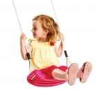Plastic Swing Seat With Premium Adjustable Poly Hemp Ropes - PINK