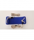 Plastic Swing Seat With Premium Adjustable Poly Hemp Ropes - ROYAL BLUE