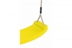 Plastic Swing Seat With Premium Adjustable Poly Hemp Ropes - YELLOW