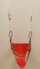 Red Soft Rubber Junior Safety Swing on white adjustable ropes - Seconds