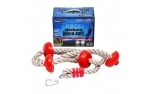 Slackers Ninja Climbing Rope with Discs Obstacle