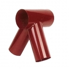 Swing Corner 100 x 80 x 80mm Round - Short Tube - Red