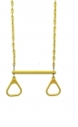 Trapeze Bar (Steel) with Plastic Triangles- Yellow