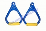 KBT Triangle Plastic Handle Soft Grips - Blue/Yellow