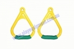 KBT Triangle Plastic Handle Soft Grips - Yellow/Green